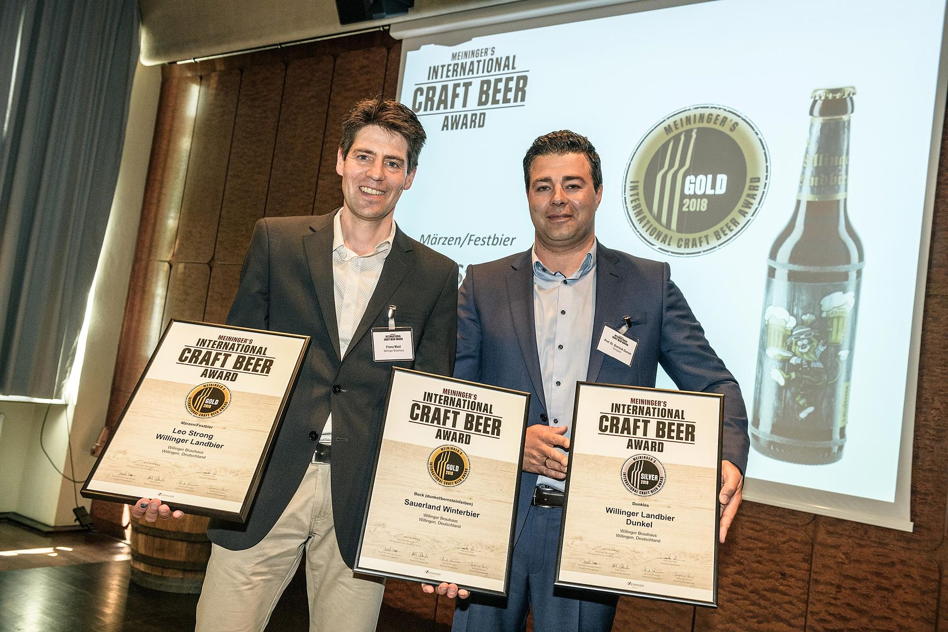 Craft Beer Awards für Willinger Biere